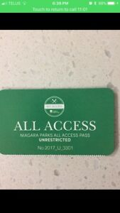 Niagara Park golf passes