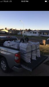 Truckload Dry Mix Pine/Spruce Firewood(8Bags)+Kindle+Del $200