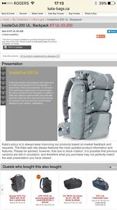 Camera backpack for hiking (raincover included)