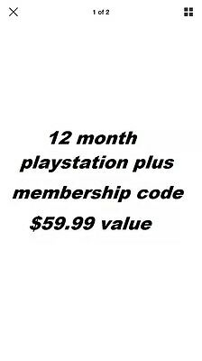 Sony PlayStation Plus Membership 12 Month Subscription Code + Free Cup . New .