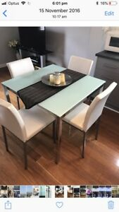Square 4 seater dining table