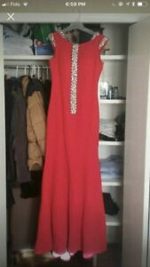 Amazing red dress with crystal embellished