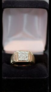 Men's diamond and gold ring