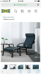 Brand New IKEA Poang Chair & Footstool