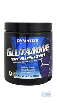 Dymatize 100% Pure Glutamine, Unflavored, 10.6 Oz