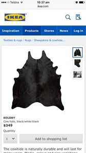 Ikea cowhide black - almost brand new! Lilyfield Leichhardt Area Preview