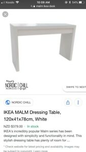 Gently used MALM IKEA desk/ dressing table $100 / OBO