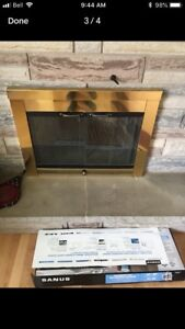 Fireplace insert/ wood burning  excellent shape nice look.