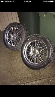"""2x 17"""" inch BMW MAGS WHEELS With new tyres rims in good condition"""