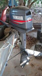 Yamaha 2006 25hp stainless steel prop short shaft Cowirra Mid Murray Preview