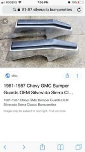 1981 -1987 Chevy pickup bumperettes
