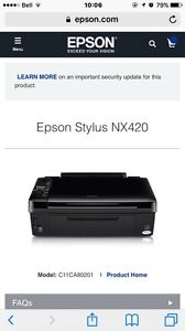 Wireless Printer (fax, scanner and printer)