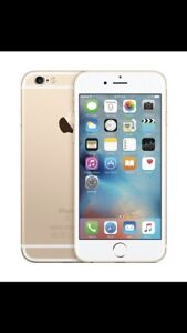 UNLOCKED 128GB GOLD IPHONE 6 with case + temper glass