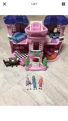 Fisher Price Sweet Streets Townhouse Mansion Victorian House  Loving Family