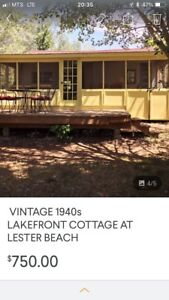 See this ad under vacation rentals Lester Beach Vintage Cottage