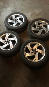 Alloy rims with summer tires