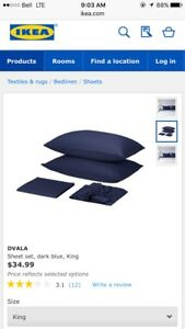 Brand New Ikea Sheet Set - King