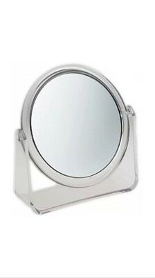 Vanity Stand (Swivel Magnifying Mirror Clear Stand Round Vanity Beauty Makeup Cosmetic Mirror)