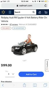 BATTERY CHARGED AUDI R8 SYPDER RIDE ON TOY CAR