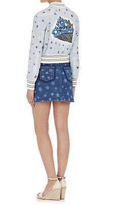 WOW AMAZING~$1,250 Valentino Star Denim MINI Skirt Size 10~SOLD OUT ONLINE ()