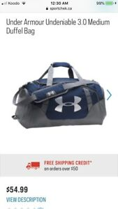 NWT Under Armour gym bag