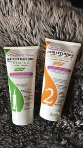 Hair extension shampoo and conditioner