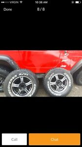 Jeep rims and rubber