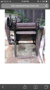 Wanted flat belt drive thickness planer