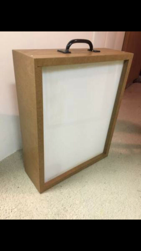 "17""x21"" Vintage Portable Xray Film Illuminator Light Box X-Ray Viewer"