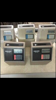 Amano 3 Mjr-7000 2 Mjr-8000 Digital Computerized Employee Time Card Clock