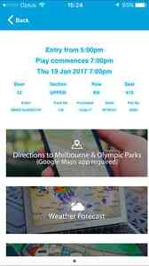 THURSDAY 7pm 19th Australian Open - RLA Sydney City Inner Sydney Preview