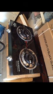 Brand new glass top Automatic two burner gas stove cooktop