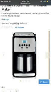 Brand new in box Krup 12 cup coffee maker