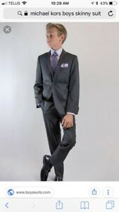 Michael Kors Boys Grey Skinny Suit & Complete outfit- size 10/12