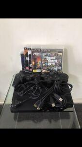 2 PlayStation 3 5 games 2 controls
