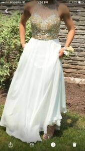 (Reduced) Prom Dress - $225 and Gold High Heel Shoes - $30