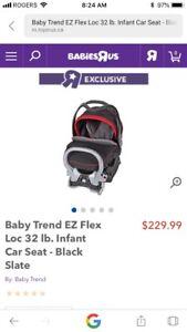 Baby Trend EZ Flex Loc 32 car seat with accessories