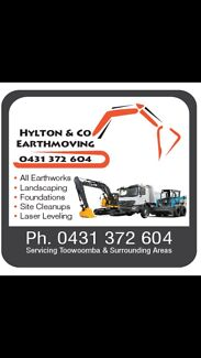 Excavating/earthmoving bobcats, excavators etc