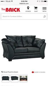Faux Leather Loveseat