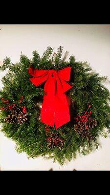 Handmade Maine Holiday Wreaths Maine Christmas Wreath