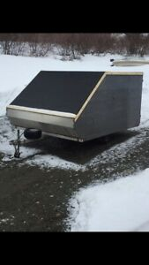 For sale 1 double wide aluminum snowmobile trailer