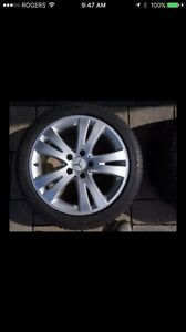 Winter Tires/Rims Mercedes Benz 225/45/17 Pirelli E/C/B/CLA