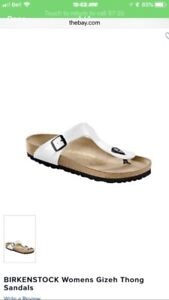 Brand new in box white Birkenstocks gizeh size 39