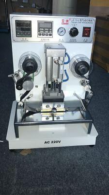 Pneumatic Hot Foil Coding Stamping Machine Leather Logo Printer Stamper 220v