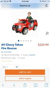 6v ride on fire rescue truck