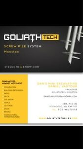 Goliathtech screw pile moncton