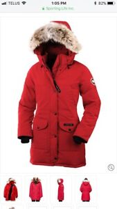 Women's red Canada goose size extra small Trillium parka