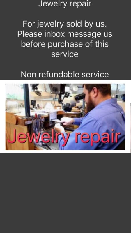 CUSTOM MADE FINAL NO REFUND SERVICE * jewelry Gold repair Solid Real 10k 14k