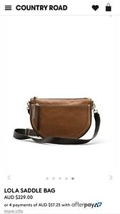 Country Road Saddle bag. leather. New condition. Rrp $229 Newtown Geelong City Preview