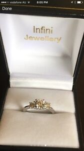 White Gold Brilliant Cut Diamond Ring Size K valuation $5800 Booragoon Melville Area Preview
